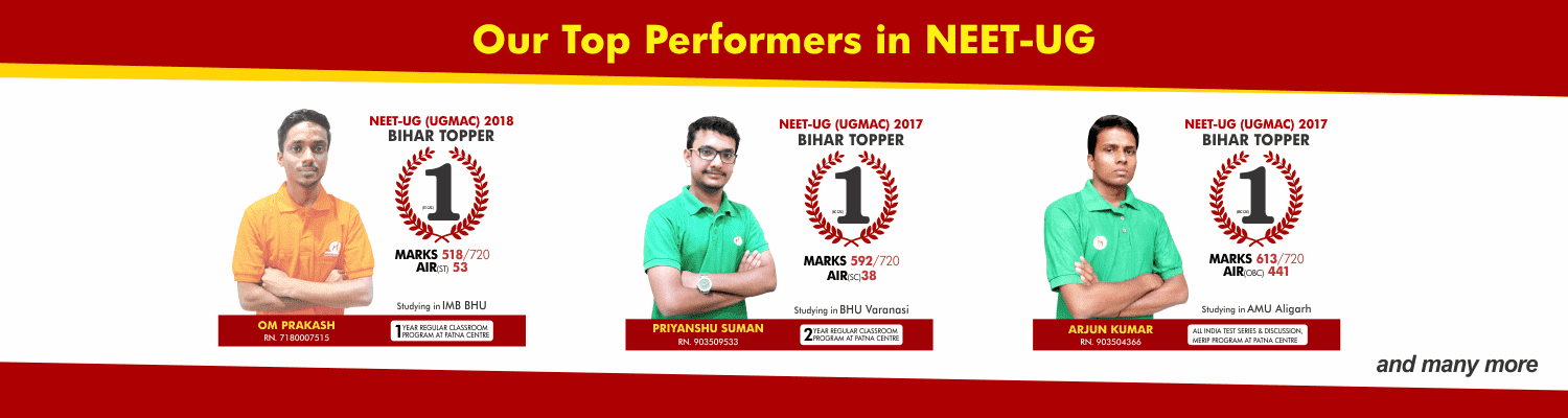 OUR TOP PERFORMERS IN NEET UG