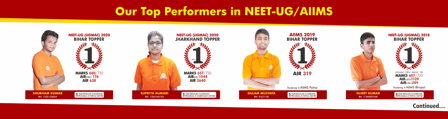 OUR TOP PERFORMERS IN NEET UG / AIIMS