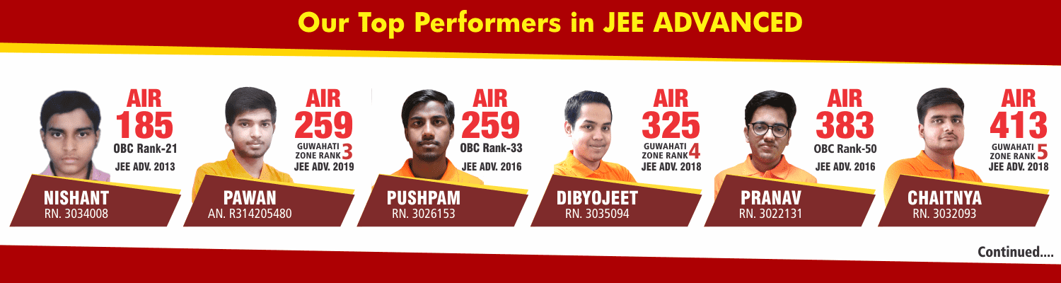 OUR TOP PERFORMERS IN JEE ADV
